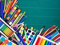 colored pens and pencils for back to school