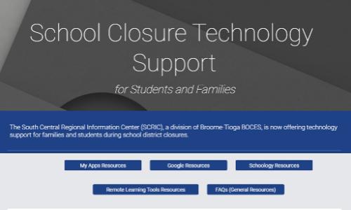 Technology Support online screenshot (3/2020)