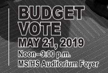 Budget vote, concert is Tuesday!