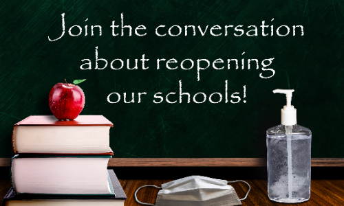 Join the conversation about reopening our schools! (illustration)