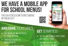 My School Menus Flyer 2019