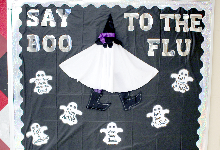 "Say ""boo"" to the flu!"