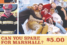 Help Marshall Sepello flyer