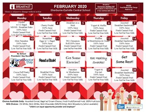 S-E Breakfast Menu (February 2020)