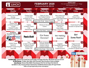 S-E MS/HS Lunch Menu (February 2020)