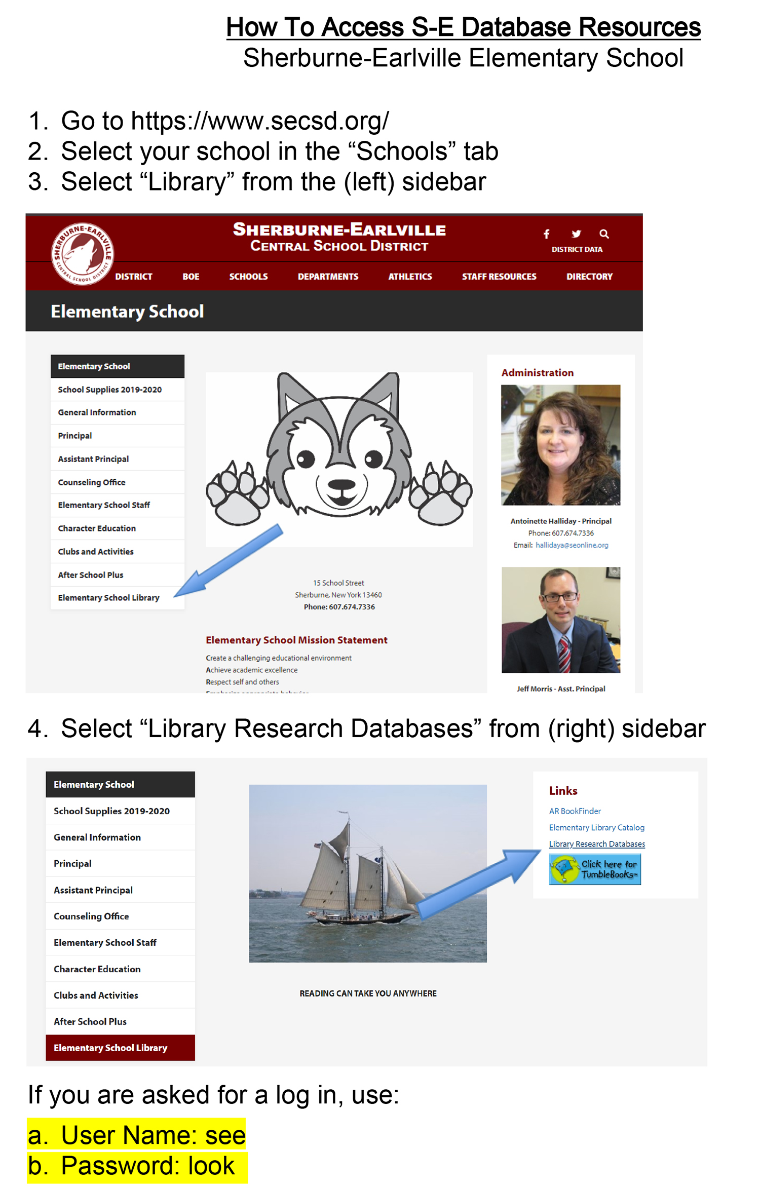 How to Access Database Resources (3/2020)