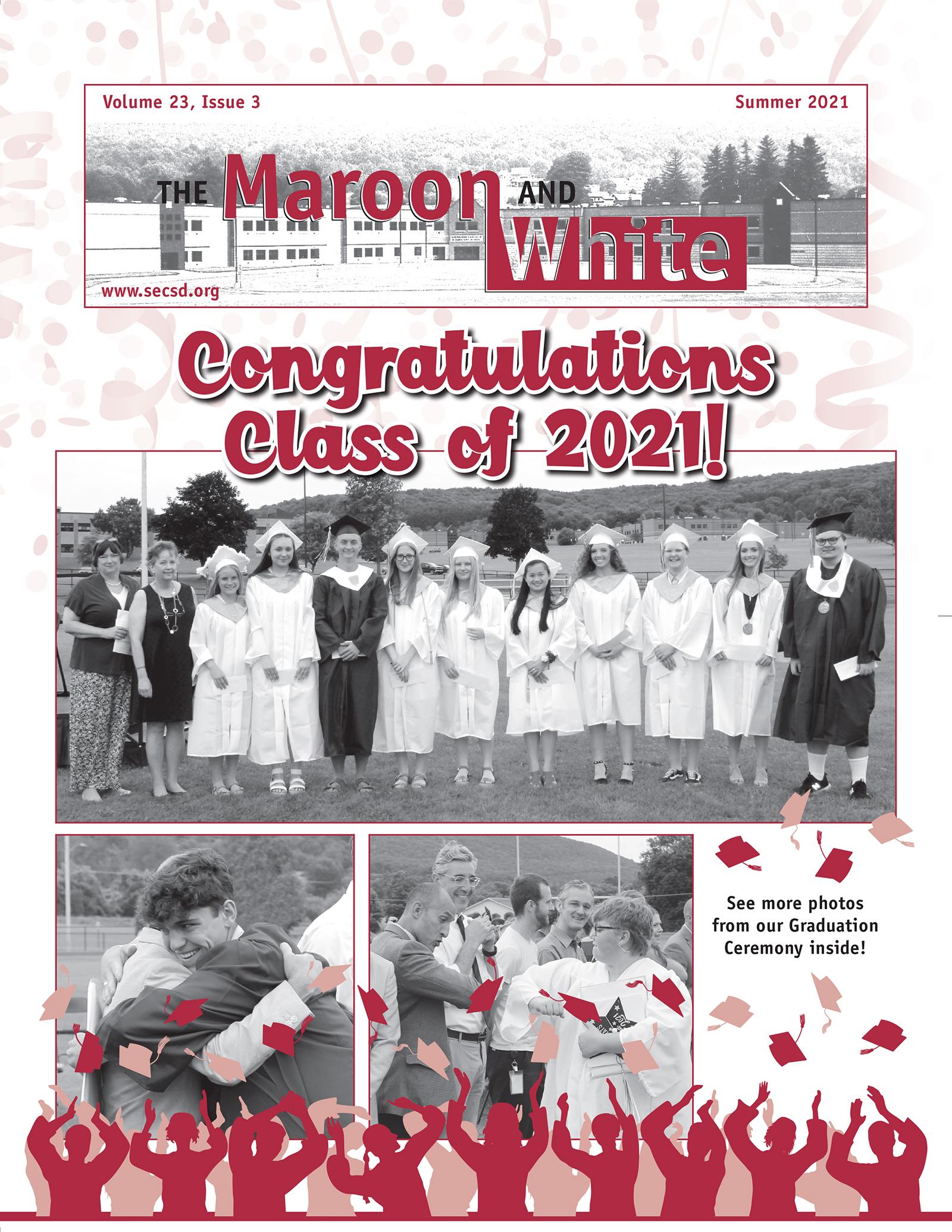 Maroon & White Summer 2021 Newsletter Cover