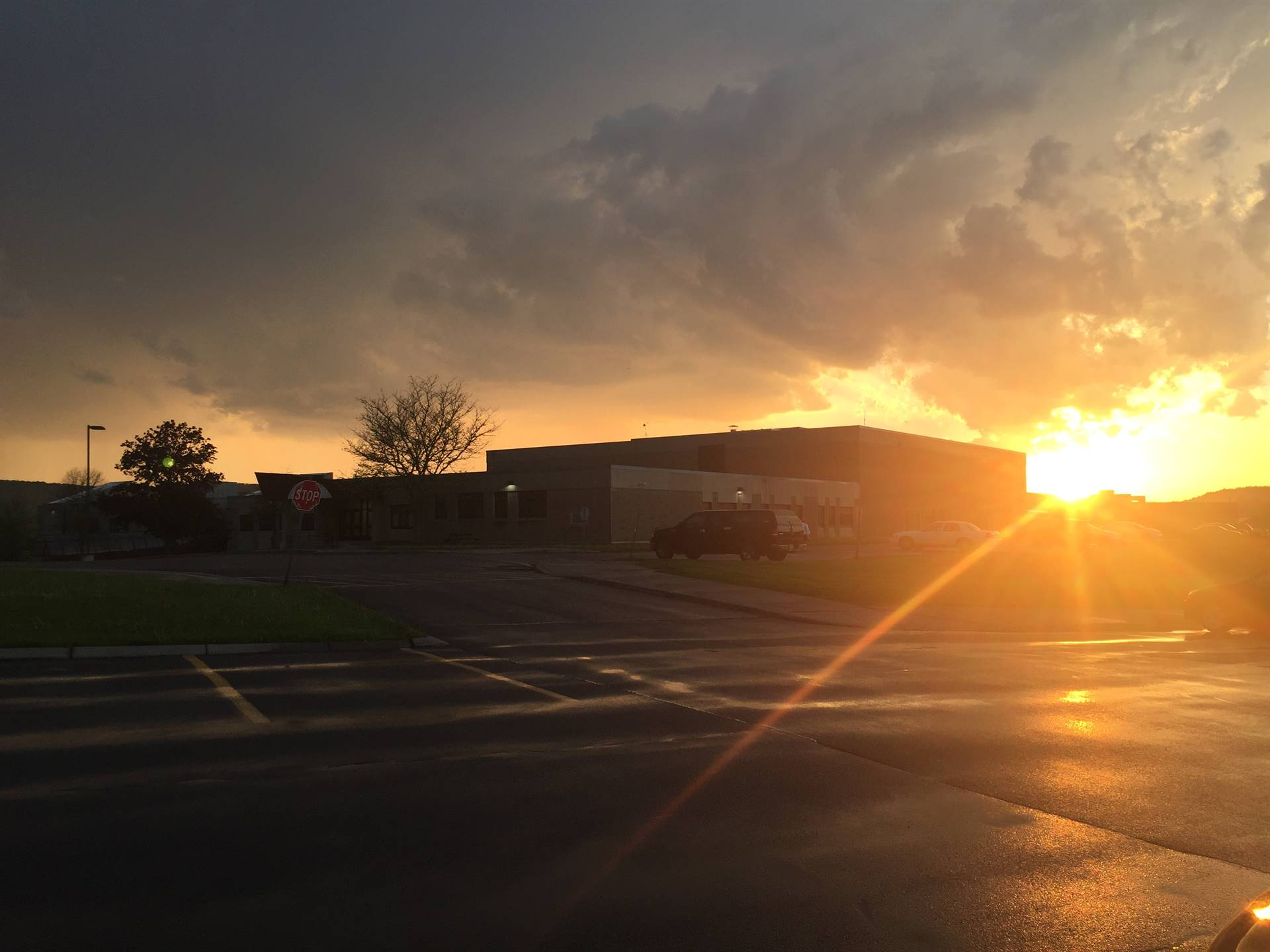 Sun setting over SEHS