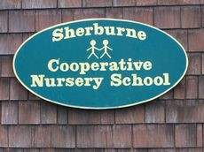 Sherburne Cooperative Nursery School sign