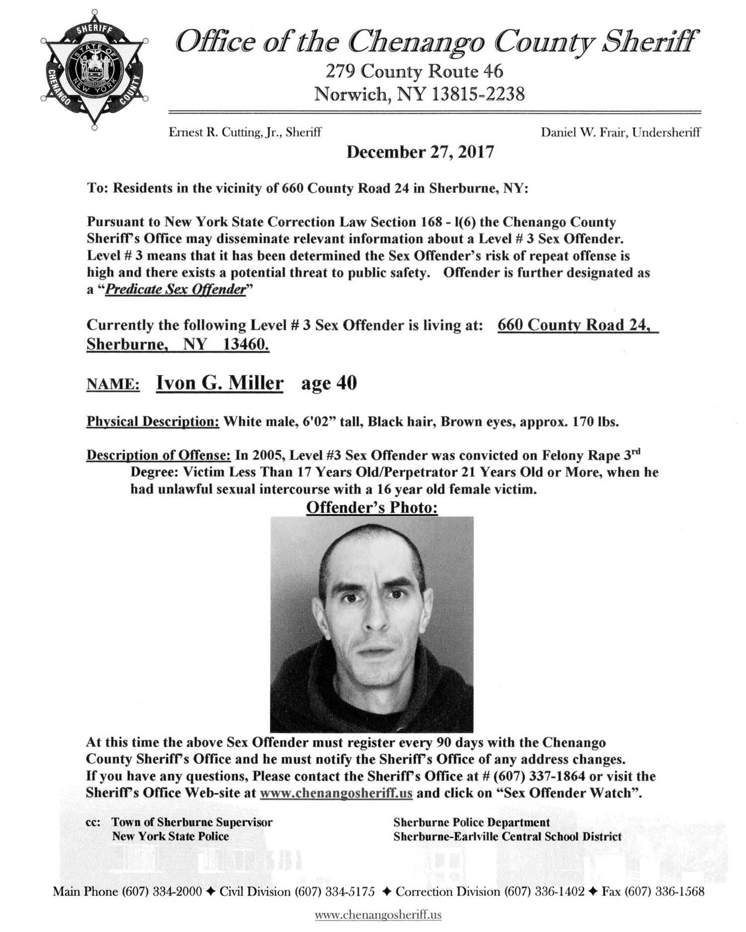 Sex Offender Ivon Miller