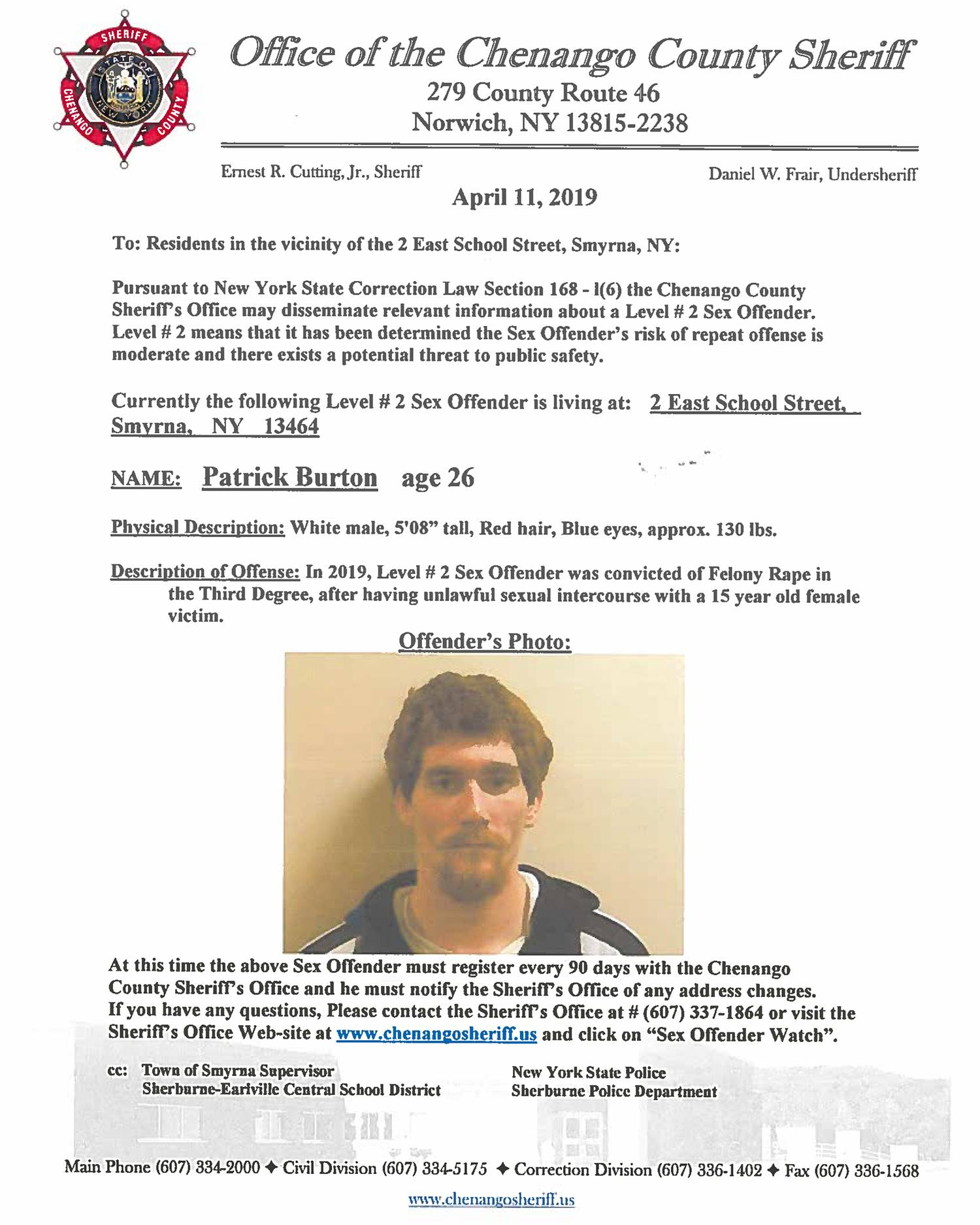 Sex Offender Patrick Burton