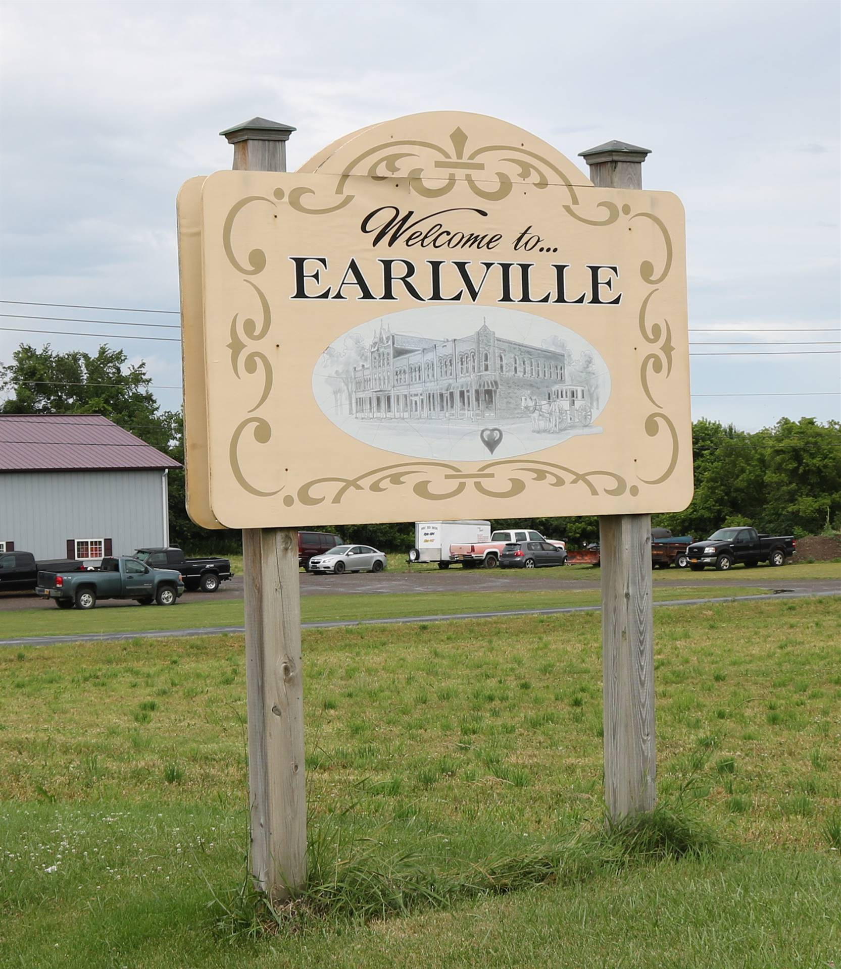 Earlville Sign