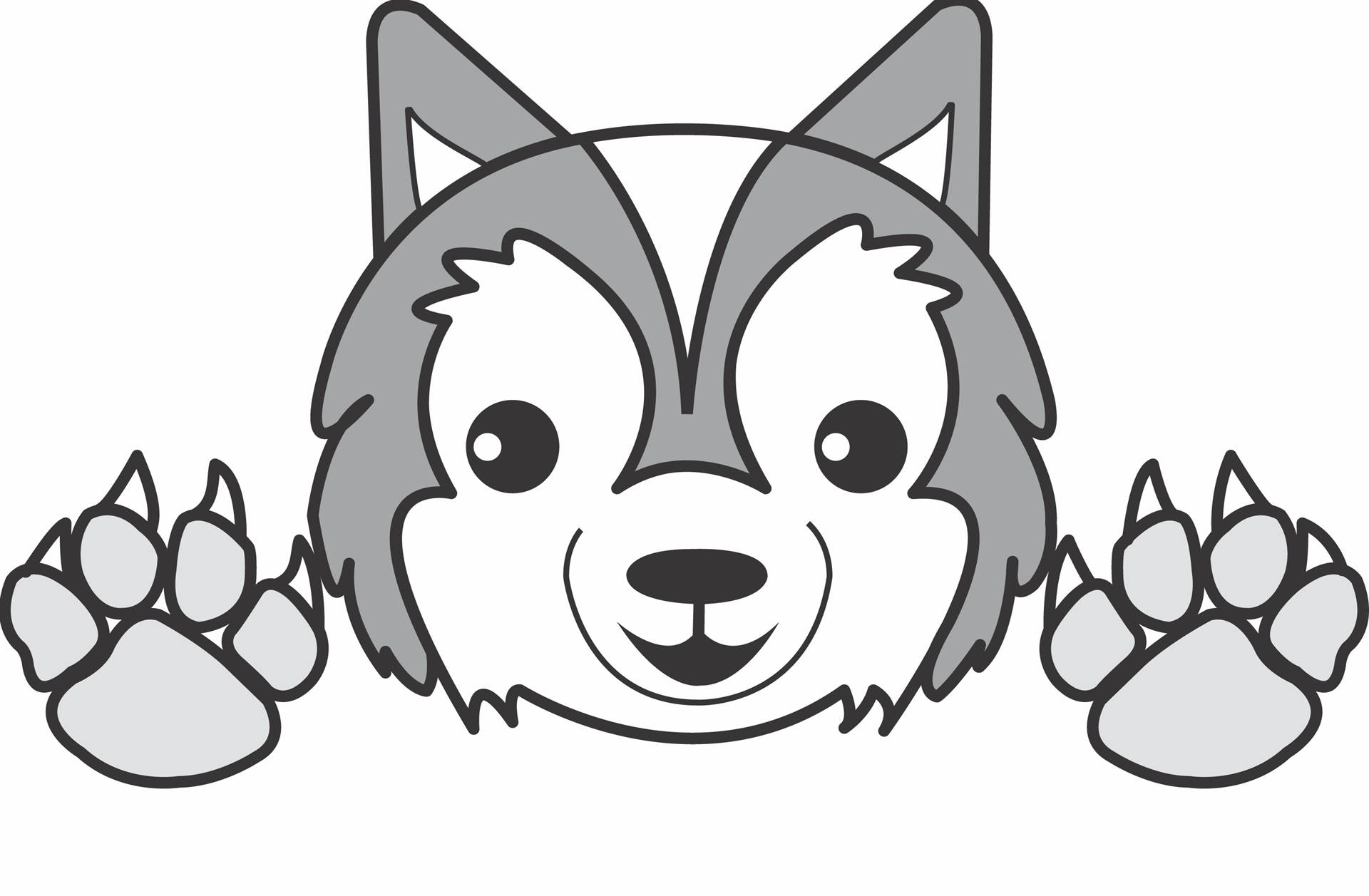 Elementary School Mascot - wolf
