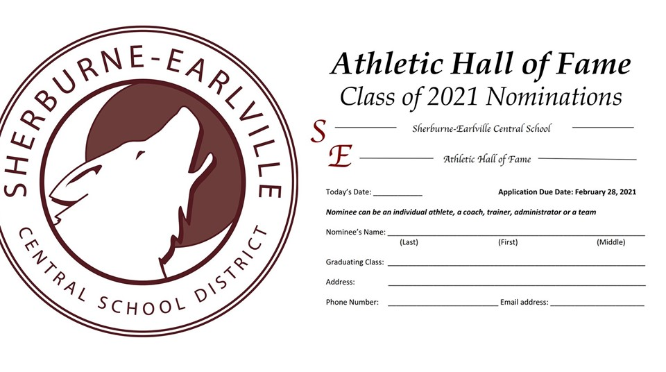 S-E Athletic Hall of Fame Nominations illustration (11/2020)
