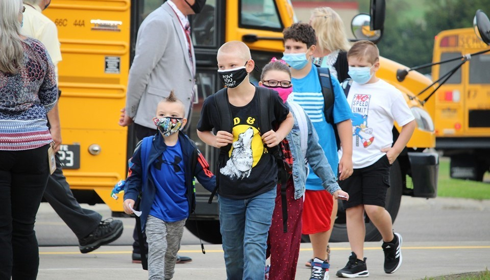 Students with masks return to school (9/2020)
