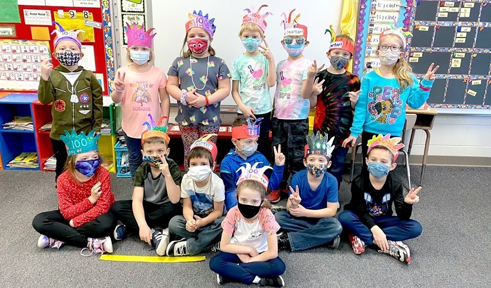 Students on 100th day of school (3/2021)