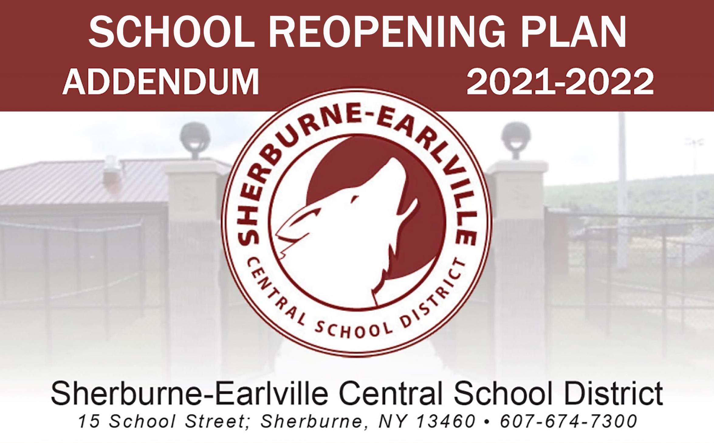 SECSD Reopening Plan Addendum illustration (9/2021)