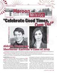 Maroon And White Newsletter Cover